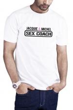 T-shirt Sex Coach blanc - Jacquie et Michel