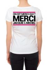 Tee-shirt  J&M blanc - spécial  femme