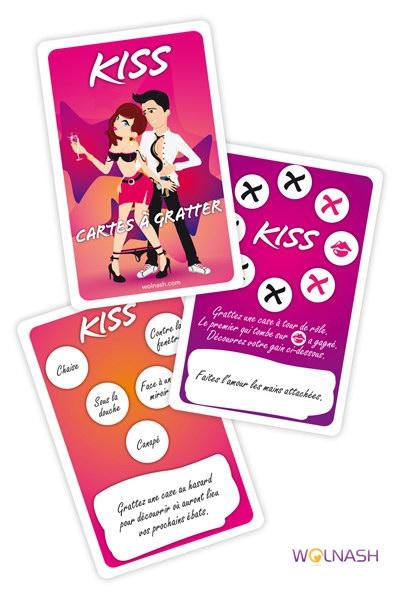 Cartes à gratter Kiss
