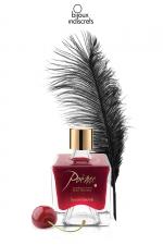Peinture de corps Poême cerise : Flacon de peinture corporelle comestible au parfum délicieux de cerise, par Bijoux Indiscrets.