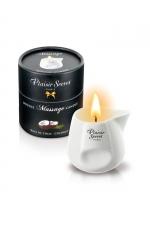Bougie de massage - Coco : Bougie érotique se transformant en huile de massage sensuelle au goût gourmand de noix de coco.